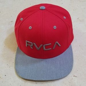 RVCA red and gray hat, like NEW